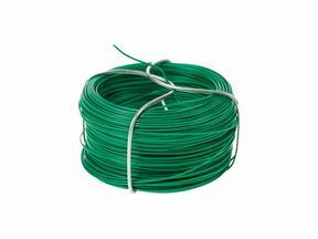 Binding wire for artificial hedge, plasticized green 1.2 mm - coil 25 m