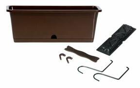 Box CAMELIA W with hooks dark brown 50.8 cm
