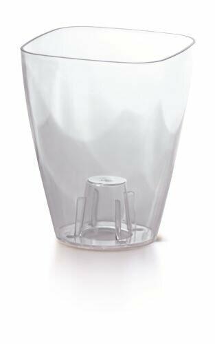 Flowerpot COUBI ORCHID square colorless transparent 13.2 cm
