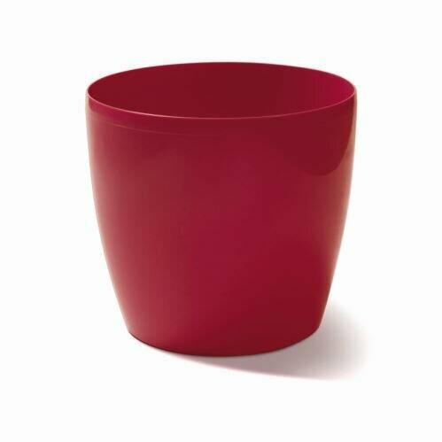 Flowerpot COUBI round burgundy 15cm