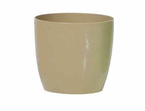 Flowerpot COUBI round coffee with milk 15cm