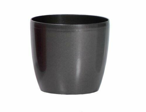 Flowerpot COUBI round graphite 9cm