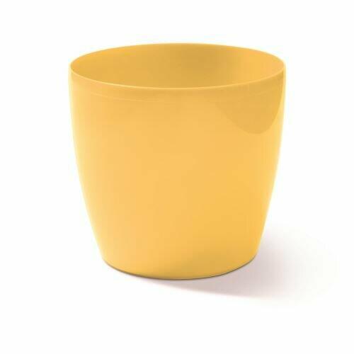 Flowerpot COUBI round light yellow 9cm