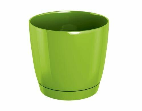 Flowerpot COUBI ROUND P with a bowl of lime 13.5 cm