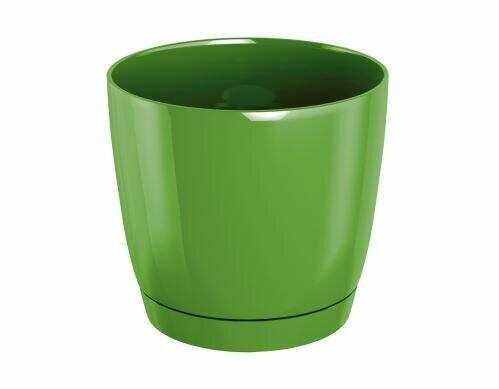 Flowerpot COUBI ROUND P with olive bowl 12cm