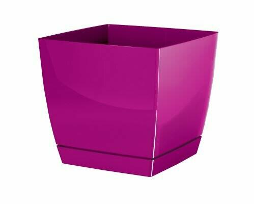 Flowerpot COUBI SQUARE P square with a bowl of fuchsia 10cm
