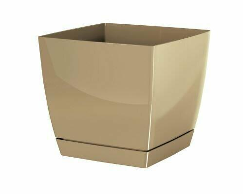 Flowerpot COUBI SQUARE P with a bowl of coffee with milk 18cm