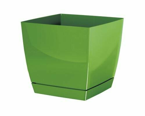 Flowerpot COUBI SQUARE P with olive bowl 10cm