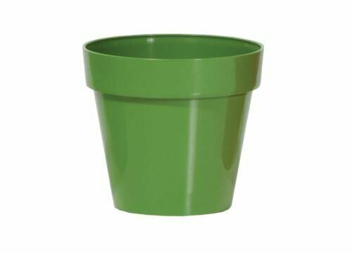 Flowerpot CUBE SHINE dark green gloss 11cm