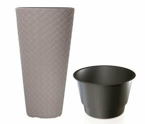 Flowerpot MATUBA SLIM + deposit mocca 30cm