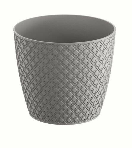 Flowerpot ORIENT gray stone 25.8 cm