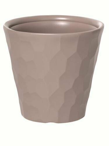 Flowerpot ROCKA mocca 29.3 cm