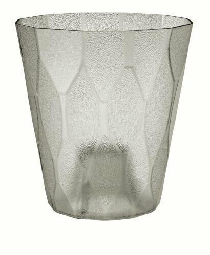 Flowerpot ROCKA P transparent ice gray 17.0 cm