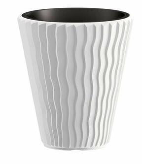 Flowerpot SANDY + deposit white 39 cm