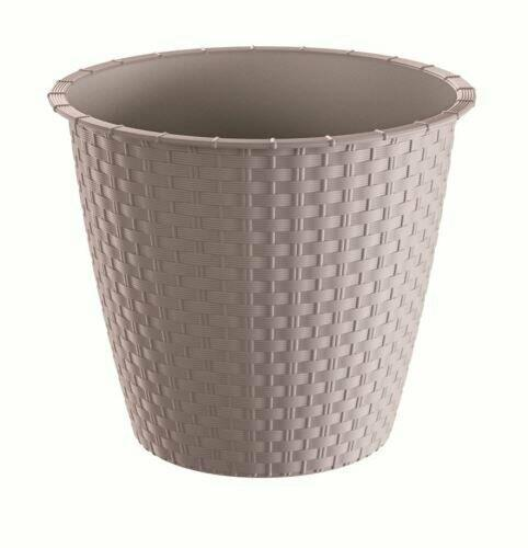 Flowerpot without bowl RATOLLA ROUND mocca 29.5 cm