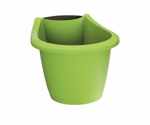 Gutter flowerpot RESPANA BELT lime 21.7 cm
