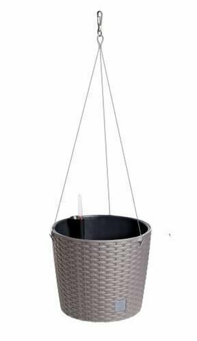 Hanging flowerpot RATO ROUND W + mocha deposit 25.6 cm