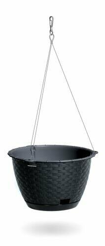 Hanging flowerpot RATOLLA ROUND W anthracite with steel. cable 24.3 cm