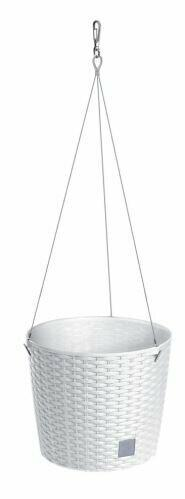 Hanging flowerpot without insert RATO ROUND WS white 25.6 cm