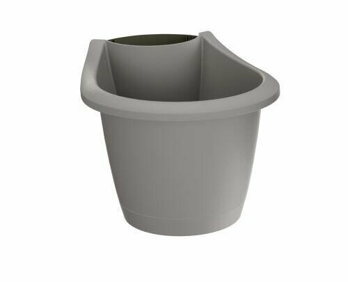 RESPANA BELT gutter flowerpot gray stone 21.7 cm