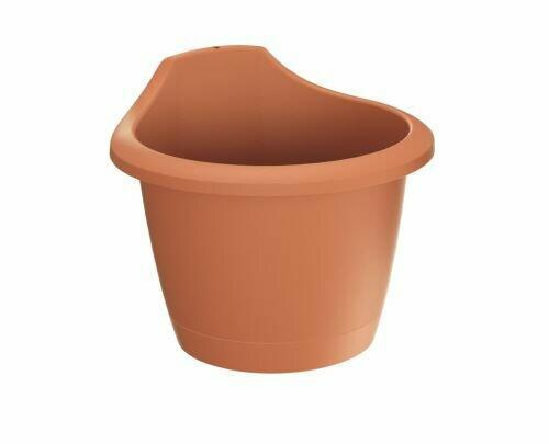 RESPANA WALL terracotta wall flowerpot 22.4 cm