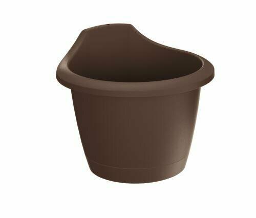 RESPANA WALL wall flowerpot brown 22.4 cm