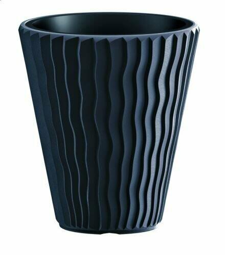 SANDY flowerpot + anthracite insert 39 cm