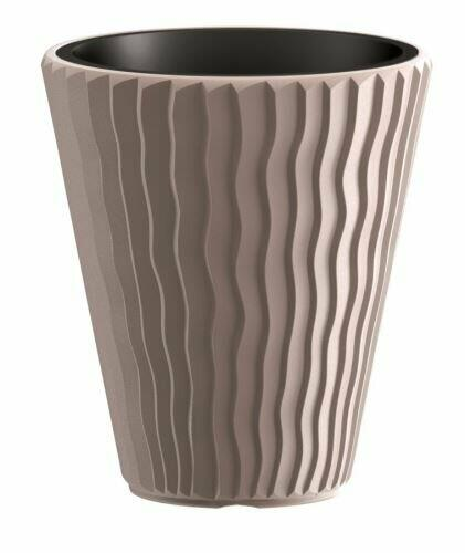 SANDY flowerpot + mocha insert 29.7 cm
