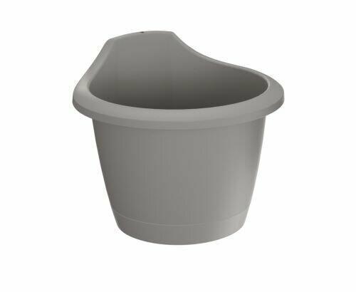 Wall flowerpot RESPANA WALL gray stone 22.4 cm