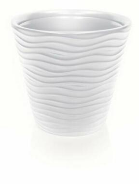 WAVE flowerpot without insert white 39.2 cm