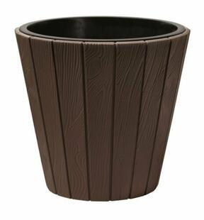 WOODE flowerpot + deposit brown 48.8 cm